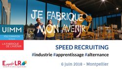 #SpeedRecruiting Industrie