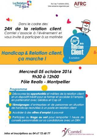 Matinée « Handicap & Relation Client, ça marche ! » le 5 octobre à Montpellier