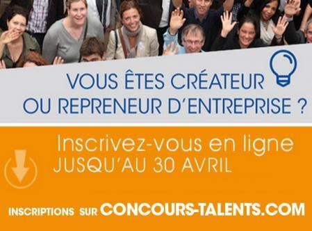 Concours Talents BGE de la création d'entreprise : inscription jusqu'au 30 avril
