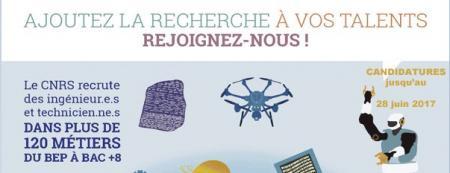 Le CNRS recrute par voie de concours externes des ingénieurs et personnels techniques : candidature avant le 28 juin