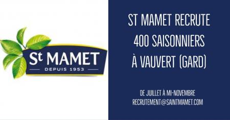 100 postes de saisonniers à pourvoir à l'usine Saint-Mamet.
