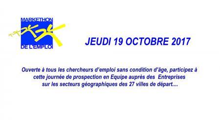 Pensez à vous inscrire si vous souhaitez participer au Markethon de l'emploi le 19 octobre