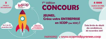 1re édition du concours « Jeunes, créez votre entreprise en coopérative »
