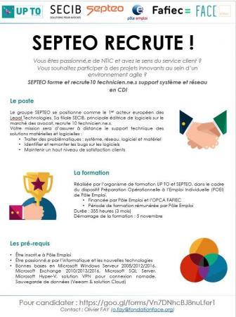 Septeo Recrute En Cdi Pour Sa Filiale Secib 10 Technicien Ne S