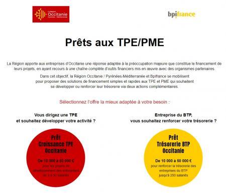 Lancement du « Prêt Croissance TPE Occitanie » accessible en ligne