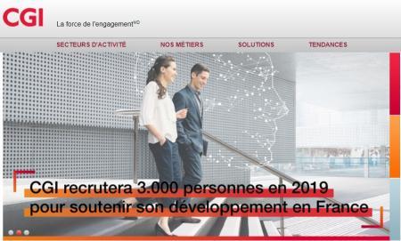 CGI recrutera 3 000 personnes en 2019 en France, dont 500 dans le Grand Sud.