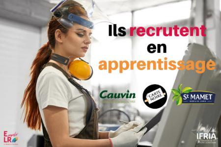 L'agroalimentaire recrute et forme en apprentissage  en Occitanie