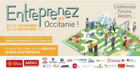 « Entreprenez en Occitanie ! », mois de la création-reprise d'entreprises du 13 novembre au 13 décembre