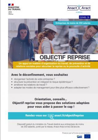 « Objectif reprise », un outil gratuit pour aider les TPE-PME à reprendre/poursuivre leur activité