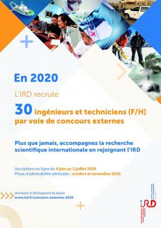 Concours externes de l'IRD (30 postes) : candidatures avant le 3 juillet