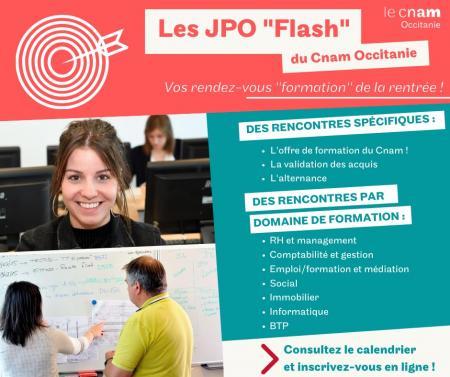 Le Cnam Occitanie organise des JPO Flash ciblées à partir du 7 septembre.