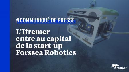 L'Ifremer entre au capital de la start-up héraultaise Forssea Robotics.