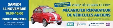 Le CFA d'Alès ouvre un cursus de spécialisation dans la réparation des véhicules anciens et historiques.