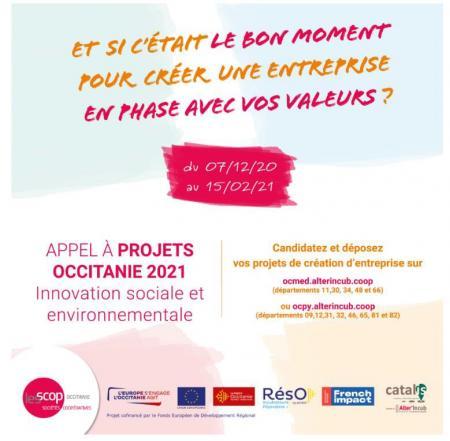 Alter'Incub Occitanie lance son appel à projets régional 2021 : candidatures avant le 15 février