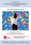 1re édition de la fête du management le 20 septembre