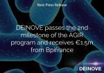 Deinove reçoit 1,5 M€ de Bpifrance.